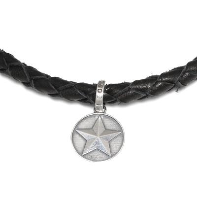 ロイヤルオーダー【公式】【ネックレス】Thick Braided Necklace with crown tips and sp920 【ROYAL ORDER】