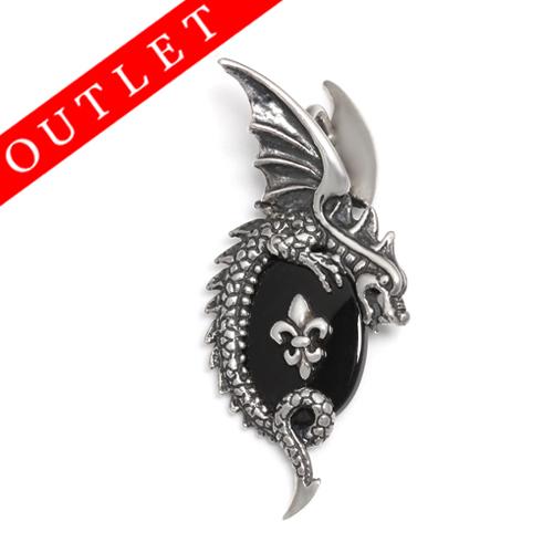 ロイヤルオーダー【公式】【ペンダント】Winged Dragon and Onyx w/FDL 【ROYAL ORDER】