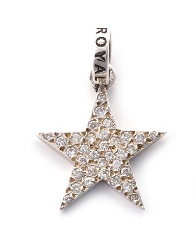 ロイヤルオーダー【公式】【ペンダント】ROCKSTAR w/Pave Diamonds 【ROYAL ORDER】