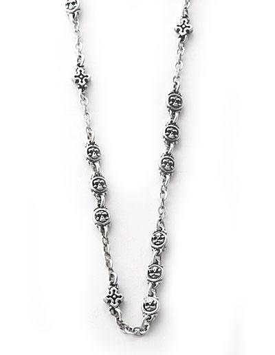 ロイヤルオーダー【公式】【ネックレス】TABERNACLE NECKLACE (skull bead and cross)21-22inch【ロイヤルオーダーネックレス】 【ROYAL ORDER】
