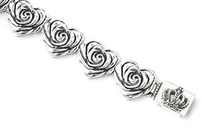 ロイヤルオーダー【公式】【ブレスレット】Heart Rose Links with Crown Box 【ROYAL ORDER】