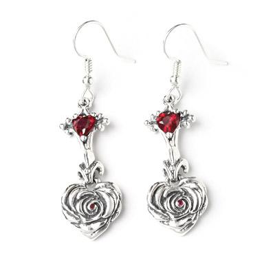 ロイヤルオーダー【公式】【イヤリング/ピアス】Small Heart Rose FDL Drop(1個単位)【ロイヤルオーダーイヤリングピアス】 【ROYAL ORDER】
