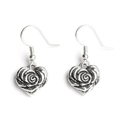 ロイヤルオーダー【公式】【イヤリング/ピアス】Small Heart Rose Earring w Hooks(1個単位) 【ロイヤルオーダーイヤリングピアス】 【ROYAL ORDER】