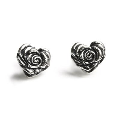 ロイヤルオーダー【公式】【イヤリング/ピアス】Small Heart Rose with Studs(1個単位)【ロイヤルオーダーイヤリングピアス】 【ROYAL ORDER】