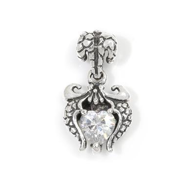 ロイヤルオーダー【公式】【ペンダント】wings with heart stone 【ROYAL ORDER】