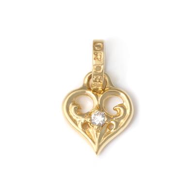 ロイヤルオーダー【公式】【ペンダント】SMALL ALLEGRA HEART W/DIAMOND 18KGOLD 【ROYAL ORDER】
