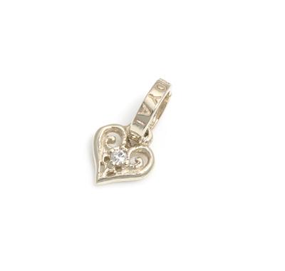 ロイヤルオーダー【公式】【ペンダント】TINY ALLEGRA HEART Wdiamond 18K GOLD 【ROYAL ORDER】