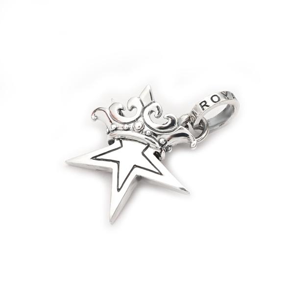 ロイヤルオーダー【公式】【ペンダント】SMALL STAR w CROWN 【ROYAL ORDER】