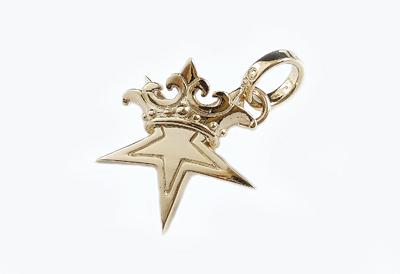 ロイヤルオーダー【公式】【ペンダント】SMALL STAR w CROWN 10K Gold 【ROYAL ORDER】