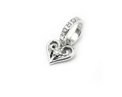 【ロイヤルオーダー ペンダント】TINY ALLEGRA HEART w DIAMOND 【ROYAL ORDER】