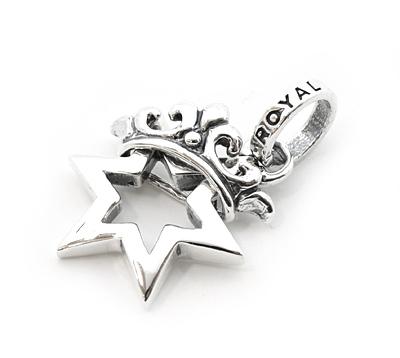 ロイヤルオーダー【公式】【ペンダント】STAR OF DAVID FRAME w/ CROWN 【ROYAL ORDER】