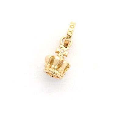 ロイヤルオーダー【公式】【ペンダント】TINY CROWN W/1 DIAMOND 18KGOLD 【ROYAL ORDER】