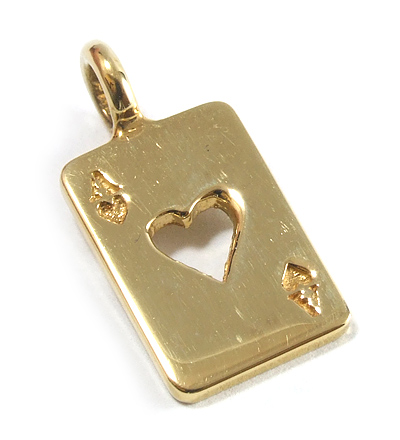 【ロイヤルオーダー ペンダント】ACE OF HEART 18K YELLOW GOLD 【ROYAL ORDER】