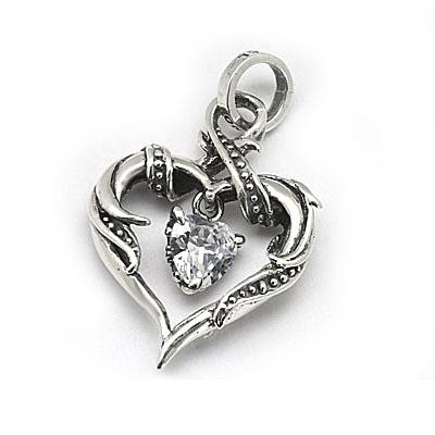 ロイヤルオーダー【公式】【ペンダント】RHAPSODY HEART FRAME WITH AMELLIA HEART 【ROYAL ORDER】