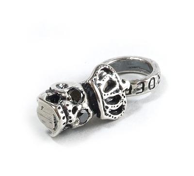 ロイヤルオーダー【公式】【ペンダント】Skull with Crown with Black Diamonds in eyes