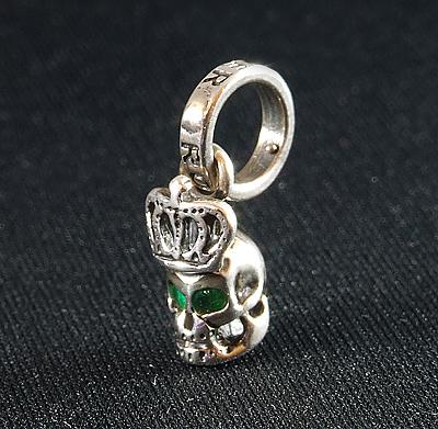 ロイヤルオーダー 公式ペンダント Skull with Crown with Emerald in eyesROYAL ORDERCoedxB