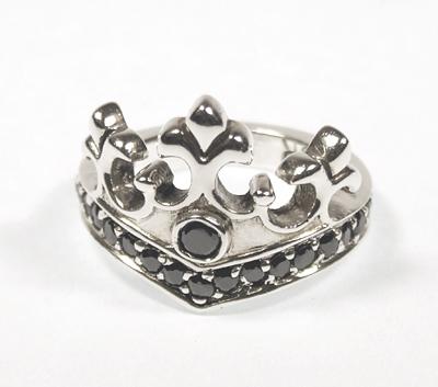 ロイヤルオーダー【公式】【リング】Queen Tiara Ring w/ CZ 【ROYAL ORDER】