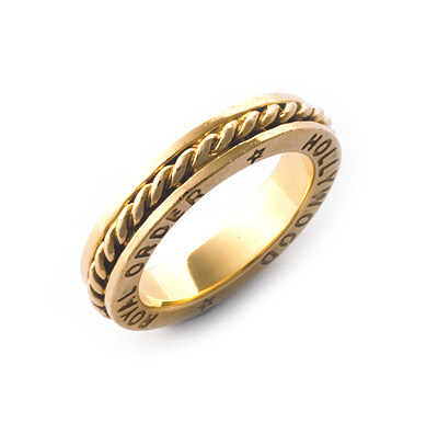 【ロイヤルオーダー リング】ROMAN SPACER RING 18K YELLOW GOLDsize5-6.5 【ROYAL ORDER】