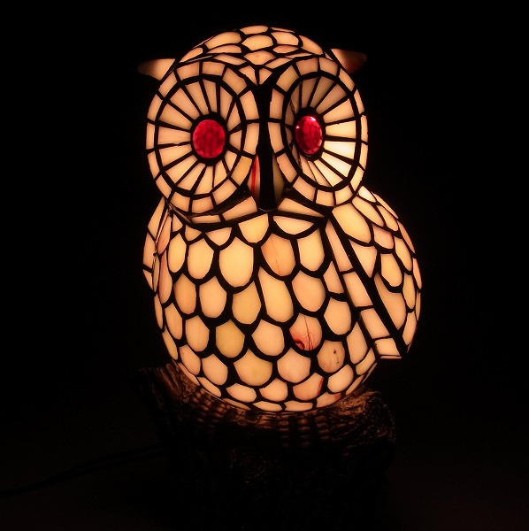 Stained Glass Medium Size Owl Lamp Owl Owl