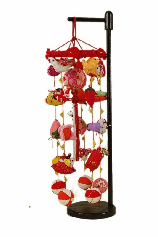 さげもん型つるし雛台付 (特小)25細工さげ木目込み毬つるし飾り 雛人形さげ飾り