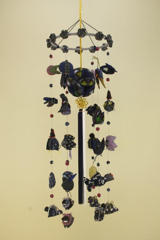 柳川さげもん美草 TM012 男の子端午節句のつるし飾り 逸品藍染め久留米絣