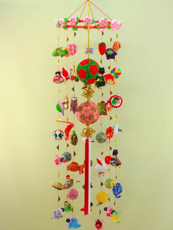 柳川さげもん美草 L180Y 伝承柳川まり14花+12花 つるし飾り本式祝い用・ 逸品手作りつるし雛人形