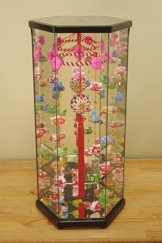柳川さげもん美草 ケース入りつるし飾り兎(うさぎ)と亀(かめ)柳川まり二つ菊紫