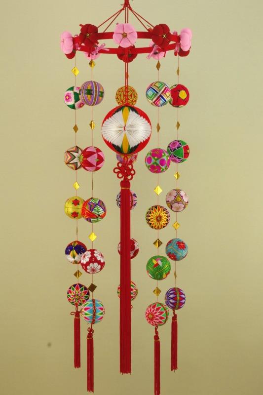 柳川さげもん美草 伝承柳川まりつるし飾り鶴熨斗・逸品手作りつるし雛人形