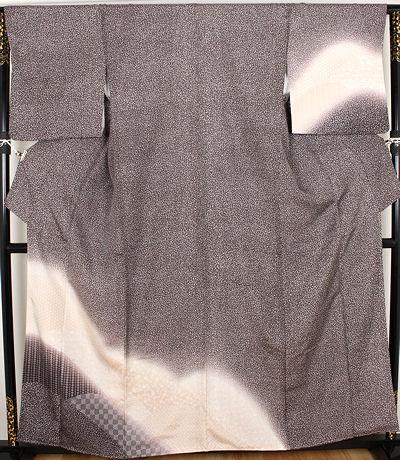 【送料無料】玉糸紬★訪問着★正絹★遠山紋 ki18413【新品】