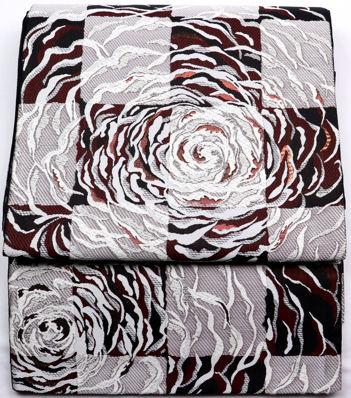 【送料無料】訪問着用★西陣織袋帯★正絹★煌彩 薔薇 F3542【新品】