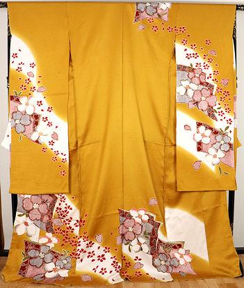 【送料無料】お仕立て付き★本振袖★正絹★桜花 ki22752【新品】
