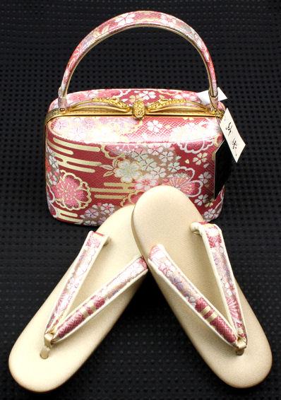 【送料無料】紗織★振袖用草履・バッグセット L寸 S7721【新品】