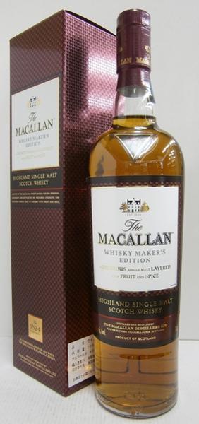 マッカラン ウイスキーメーカーズエディション 並行 42.8% 700ml シングルモルトスコッチウイスキー