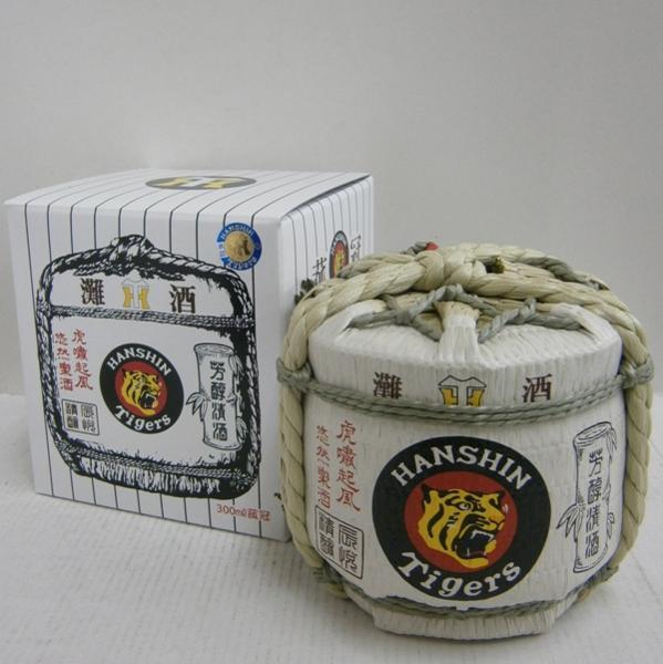 HANSHIN Tigers 白鷹 阪神タイガース生もと本醸造菰冠 菰樽 卓抜 店内全品対象 300ml