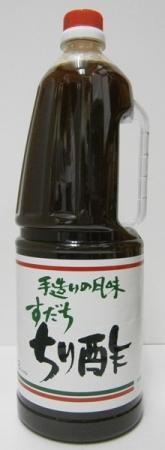 【ラッピング不可】 ヤタニ 手造りの風味 すだちちり酢 1800mlペット*1ケース(6本), carino 横浜カリーノ 465f2deb