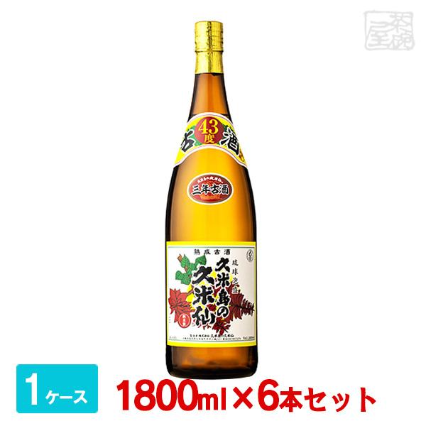 久米島の久米仙 でいご 泡盛 43度 1800ml(1.8L)*6本 焼酎