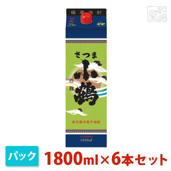 小正 さつま小鶴 芋 パック 1800ml 6本セット 小正醸造 焼酎 芋