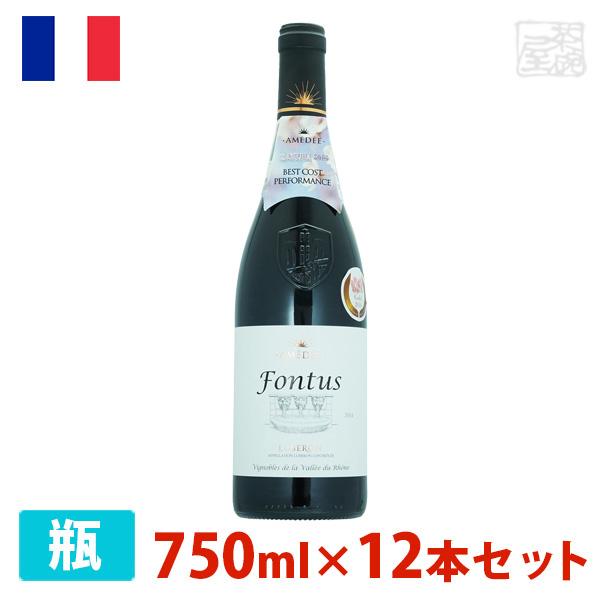 最安値挑戦! フォントゥス 赤 750ml 12本セット 赤ワイン 辛口 フランス, ビラトリチョウ da84f91d