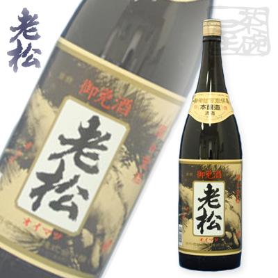 伊丹老松酒造 本醸造 特撰 1800ml (1.8L)*6本 日本酒 清酒 御免酒