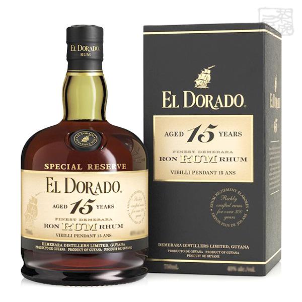 最安値挑戦 EL DORADO 絶品 15y エル ドラド 15年 スペシャルリザーブ デメララ ガイアナ産のラム酒 並行 700ml 43%
