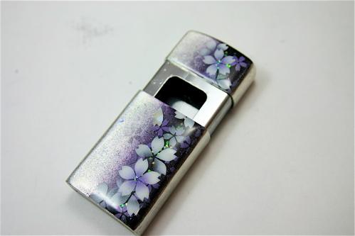 【桜色】携帯灰皿「気」 匠の技!桜色限定シガレットケース!職人の手作り!和柄オリジナル商品です!