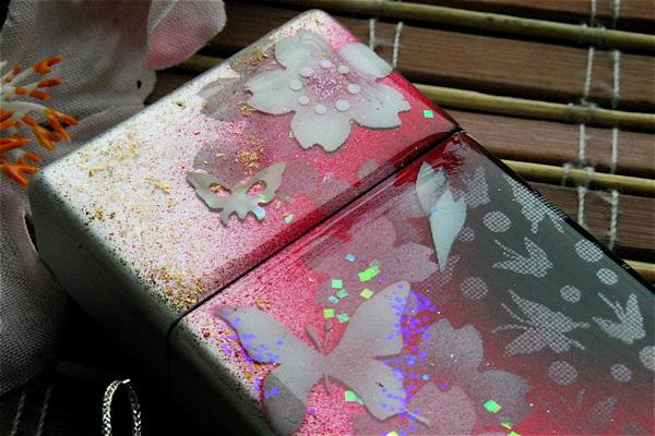 【桜色】携帯灰皿「田」匠の技!桜色限定シガレットケース!職人の手作り!和柄オリジナル商品です!