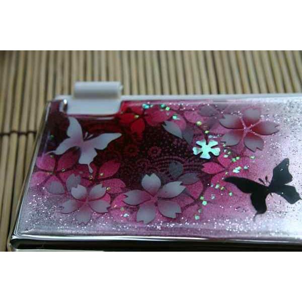 匠の技!和風MINTIAケース「絵」桜色限定ミンティア!職人の手作り!和柄オリジナル商品です!