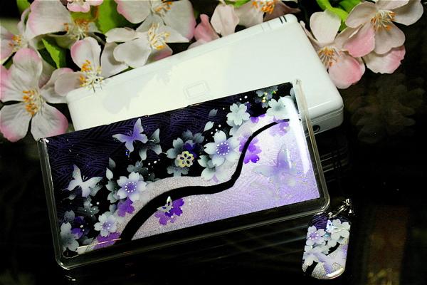 【nishi3-0917】【送料無料】ニンテンドーDS Lite・DSi用ケース「間」職人の手作り!桜色限定DSiカバーです。同じ絵柄のDS用ストラップご注文にて代引無料!プレゼントに大人気