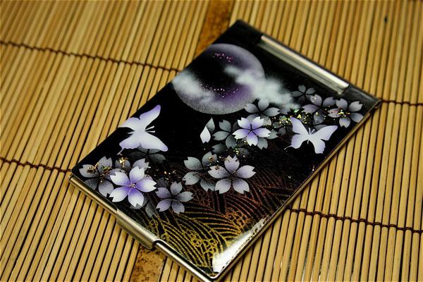 【送料無料】コンパクトミラー「毛」匠の技!桜色限定の手鏡!職人の手作り!和柄オリジナル商品!