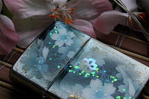 【名入れ】和柄zippo「似」匠の技!桜色限定ジッポ!職人の手作り!オリジナル和風ライター!ギフト&プレゼント&自分のご褒美!