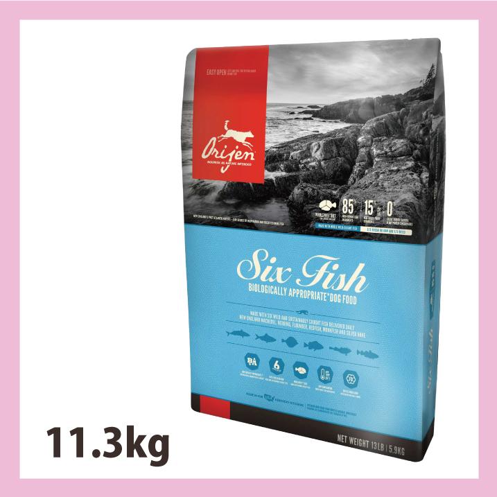 オリジン 6フィッシュ ドッグ11.3kg【送料無料】【正規品】 おやつのプレゼント付き