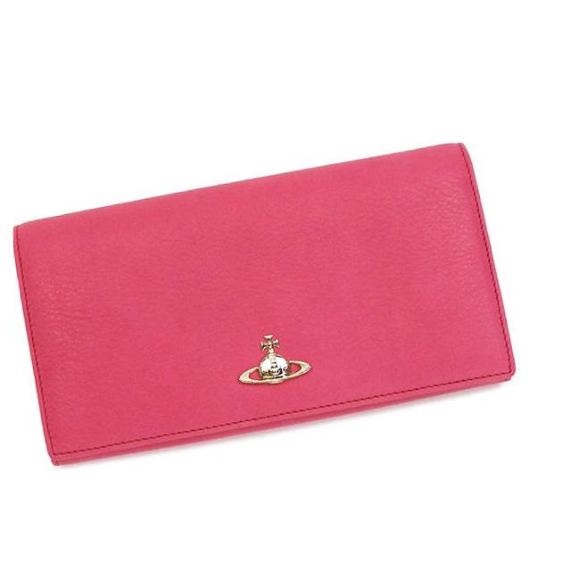 Vivienne Westwood ヴィヴィアンウエストウッド財布 二つ折り 長財布 VWW 32 098 TWISTED LW RED PK CORALTJKcl1F3