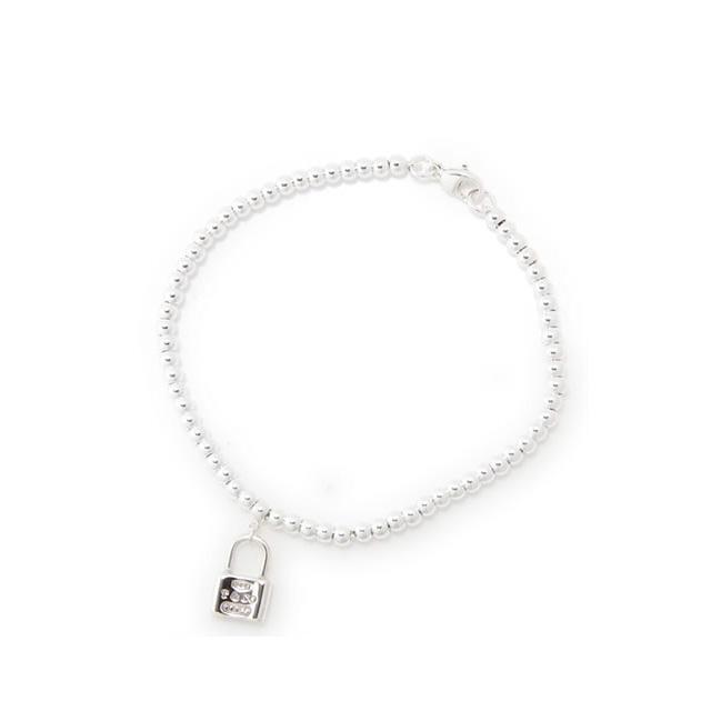 Tiffany Women S Accessories 1837 Mini Lock Beads Bracelet Medium 25069714 Fs2gm