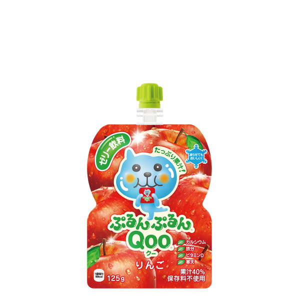 【1ケース】コカ・コーラ ミニッツメイド ぷるんぷるんQoo りんご 125g パウチ(30本入) ゼリー飲料 30本×1ケース 買い回り 買い周り 買いまわり ポイント消化
